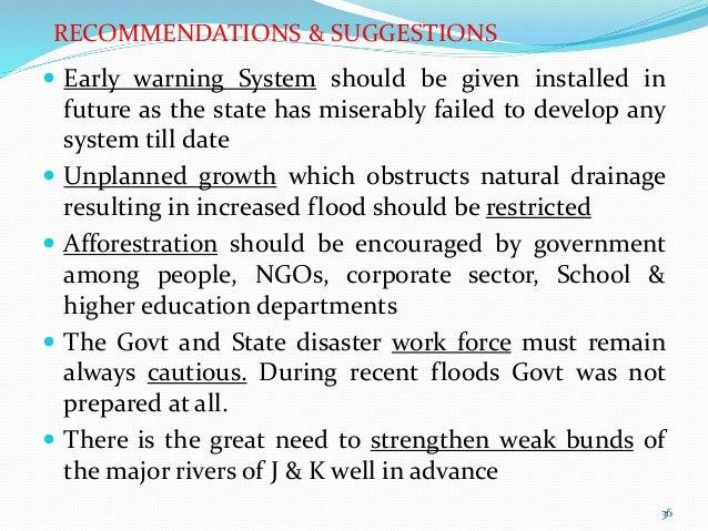 Ppt On Disaster Risk Management And J Amp K Floods 2014