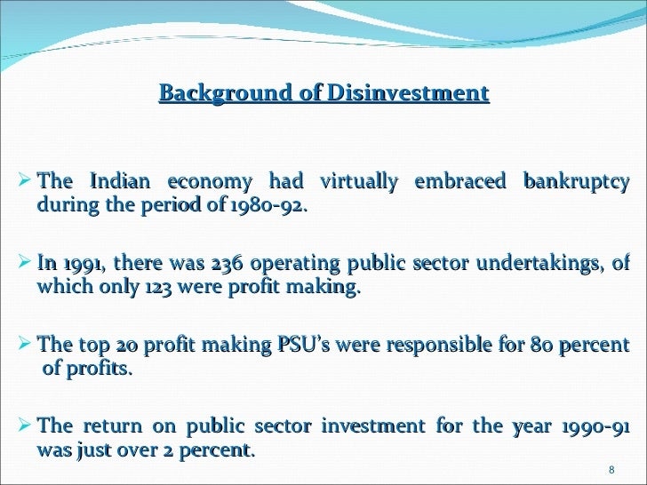 Disinvestment in 4 psusd delphi 7 dcc32 cfg investments