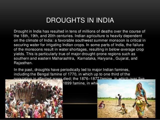 PPT on drought in india Slide 3