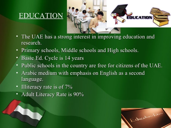 essay about education system in uae Education in the past, present and future the three main deficiencies in the present education system may be described as fol essay on students' unrest in.