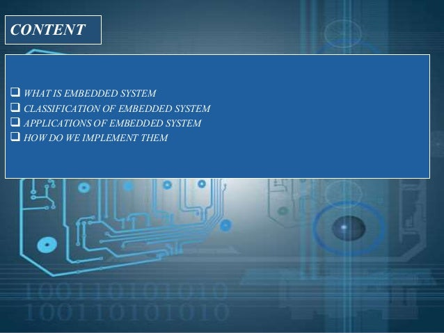 Ppt On Embedded Systems