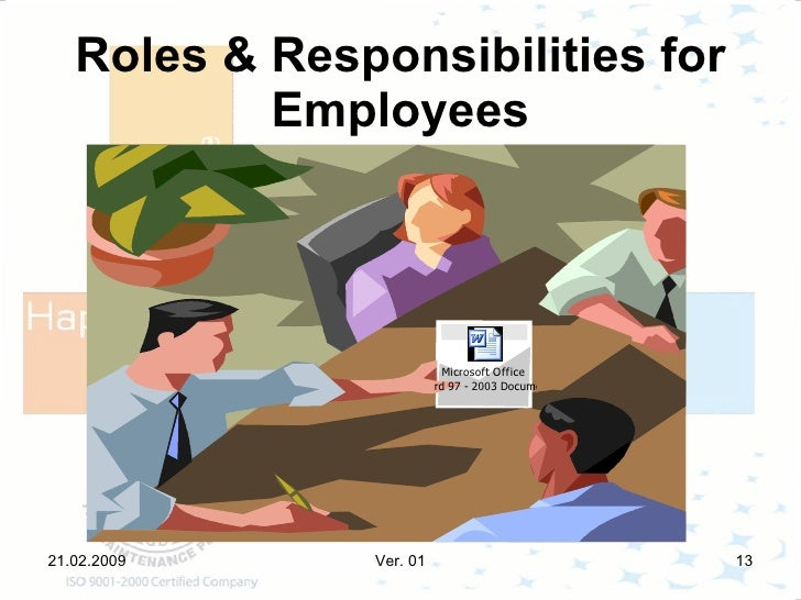 roles and responsibilities of employees