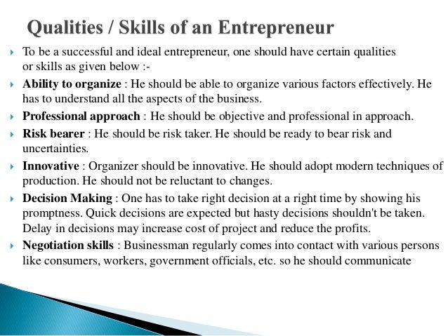 Ppt on  enterprenur in my annamarchrya college Slide 3