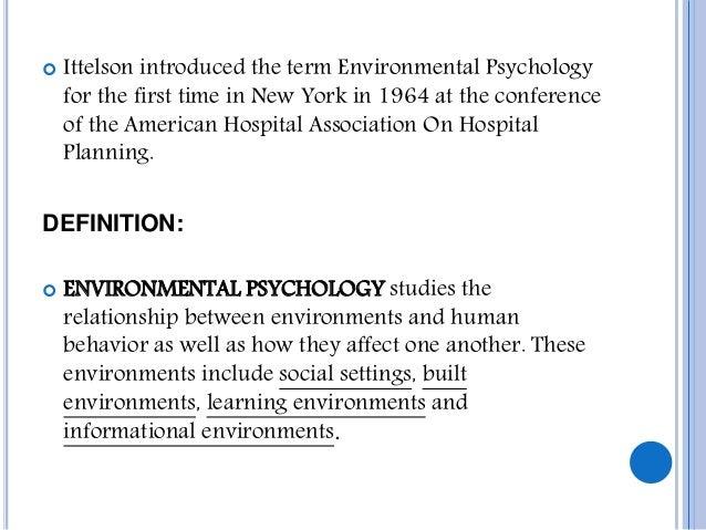human environment relationship definition