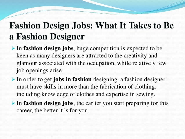 Fashion design jobs in new york