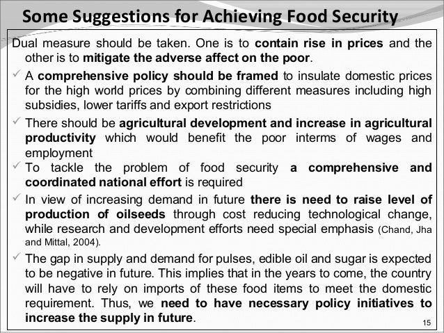 ppt on food security issues and challenges beofe   facilities available 14 16 some suggestions for achieving food security