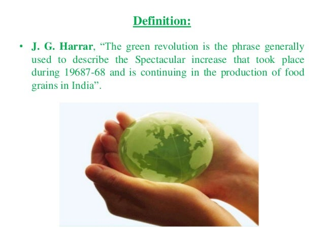 what is the importance of green revolution for indian economy
