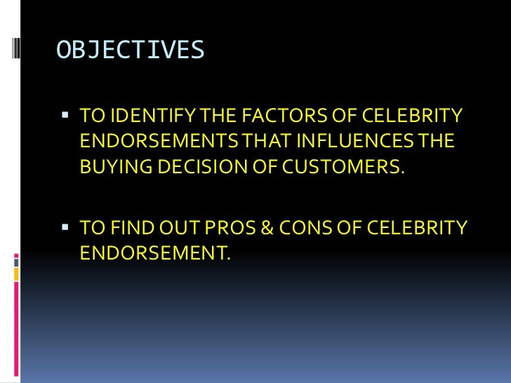 effect of celebrity endorsements on consumers Marie frances villamor november 18, 2015 professor ashton eng 110 race and gender in celebrity culture the importance of celebrity endorsement on consumption.