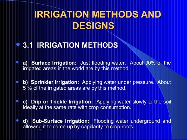Ppt On Irrigation