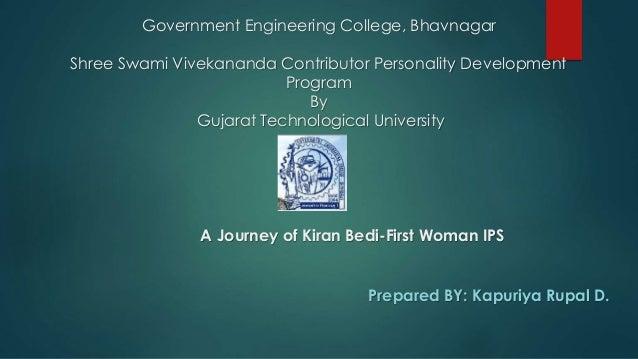 Government Engineering College, Bhavnagar  Shree Swami Vivekananda Contributor Personality Development  Program  By  Gujar...