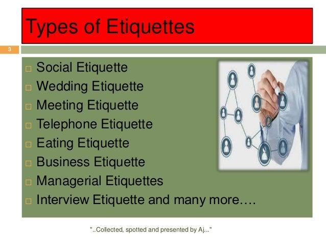 Managerial etiquette