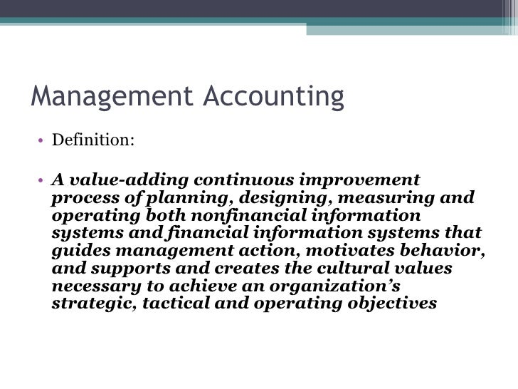 Managerial accounting marketing management
