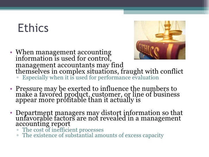 ethical issues in management accounting