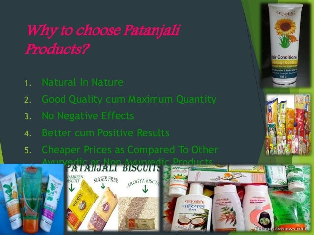 Natural Products Compared To Ali