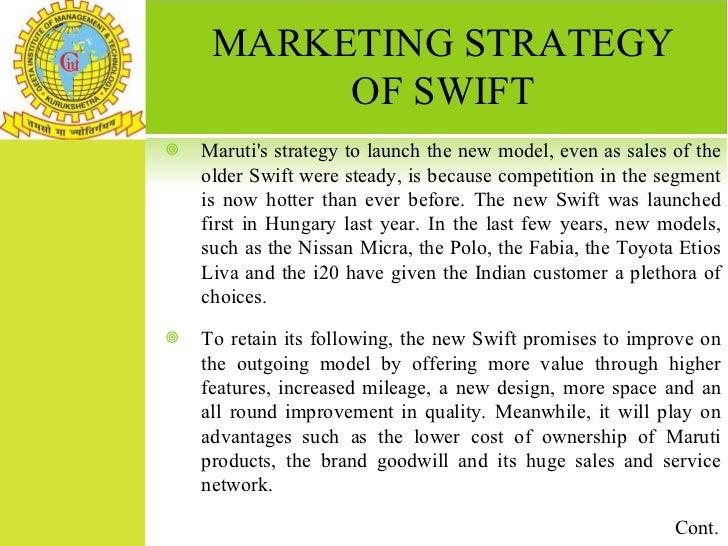 maruti swift marketing strategy
