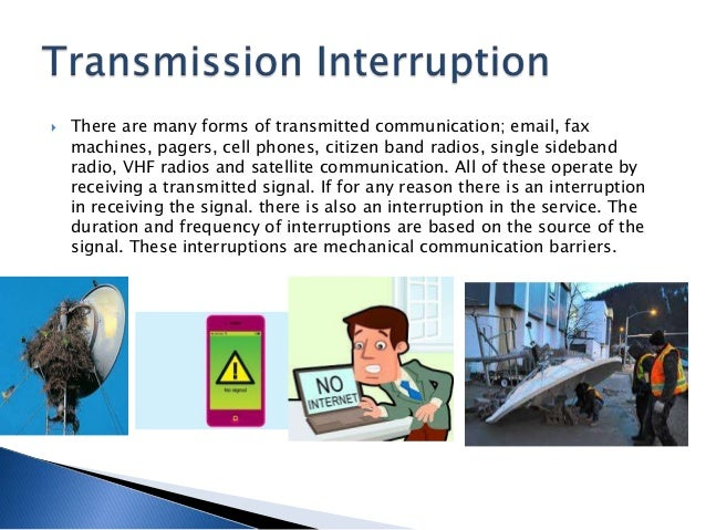 mechanical barriers to communication Communication noise refers to influences on effective communication that  influence the interpretation of conversations while often looked over,  communication.
