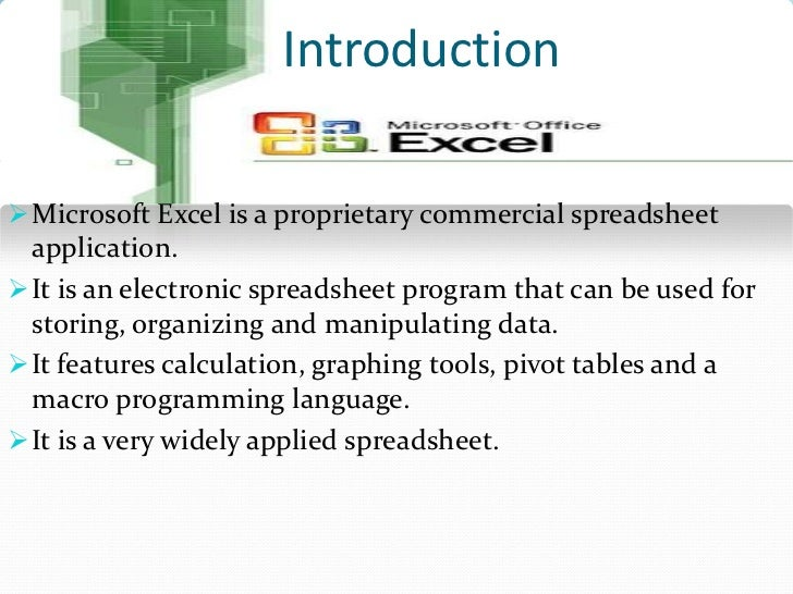 ppt on ms excel