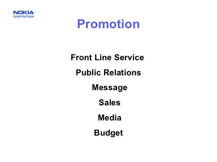 Promotion Front Line Service  Public Relations Message Sales Media Budget