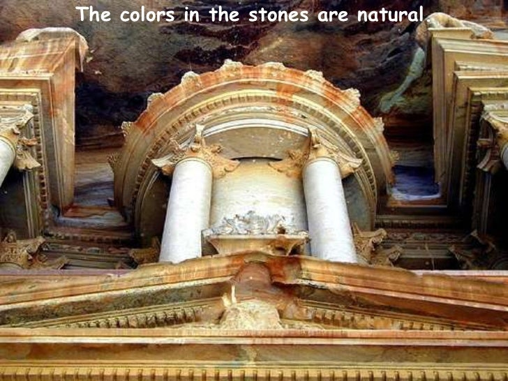 The colors in the stones are natural. <br />
