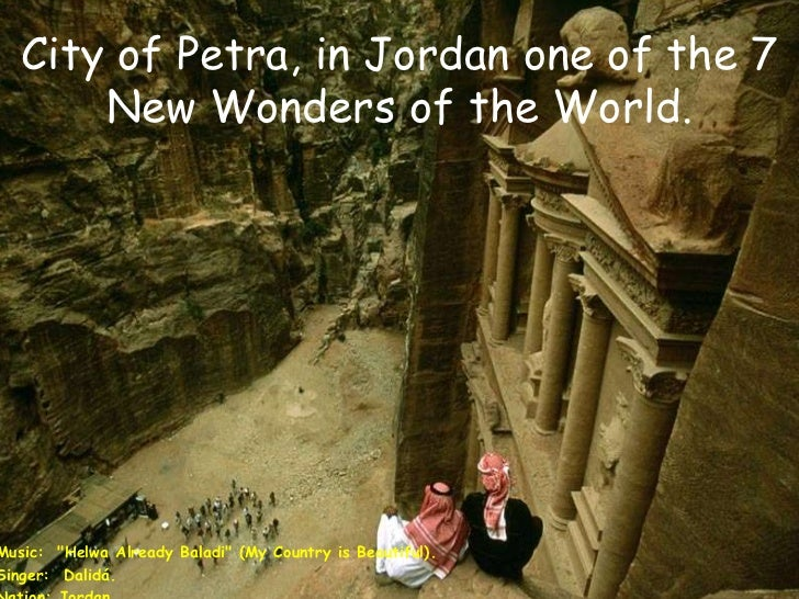 """City of Petra, in Jordan one of the 7 New Wonders of the World.<br />Music:  """"Helwa Already Baladi"""" (My Country is Beautif..."""