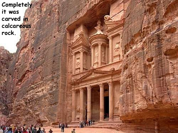 Completely it was carved in calcareous rock. <br />