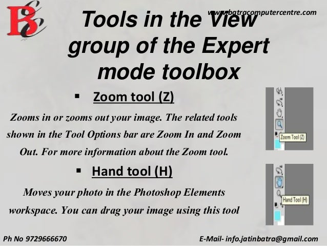 Presentation on Photoshop Tools By Batra Computer Centre