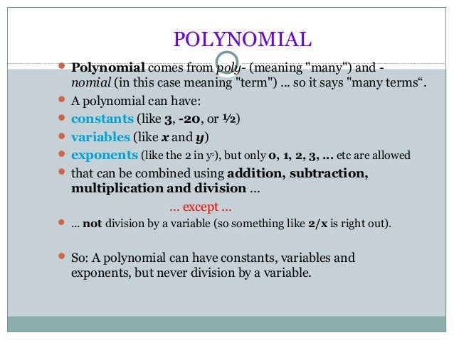 ppt on polynomial