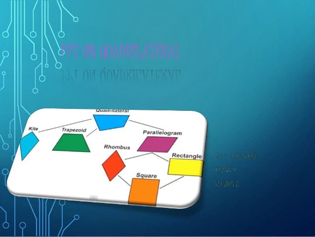 PPT ON QUADRILATERAL
