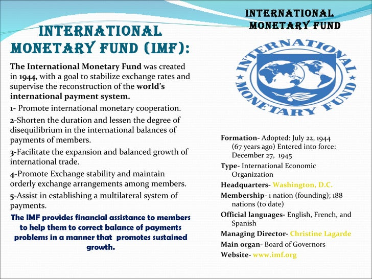 Main role of international monetary and financial systems in international trade