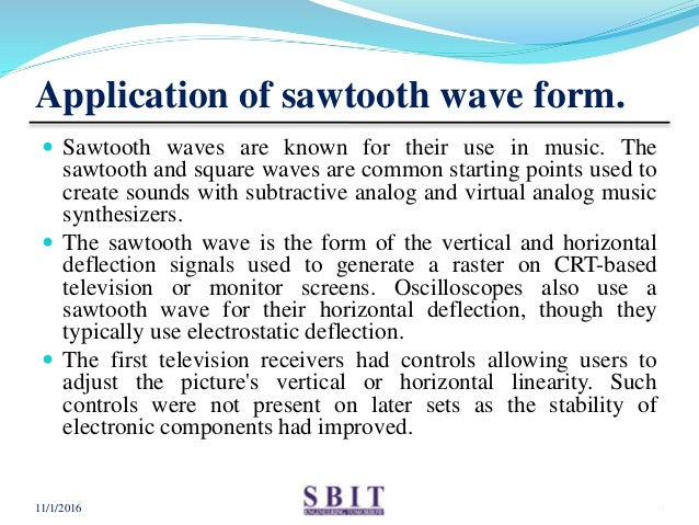 Ppt on sawtooth wave form generator