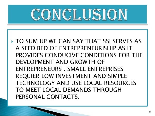 entrepreneur and small scale industries Msme-do provides services through its network for small-scale industries specialized services of marketing, export promotion and international co-operation are also.