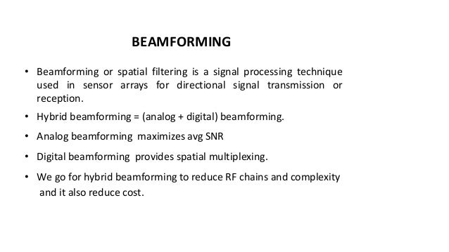 Ppt on smart small cell with hybrid beamforming for 5 g