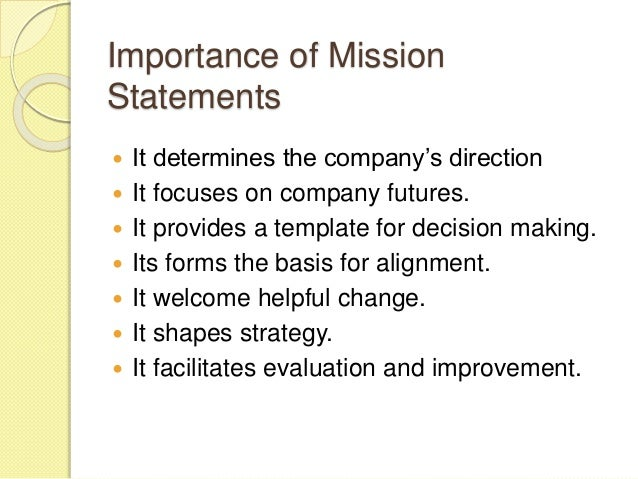 High Quality Importance Of Mission Statements ...