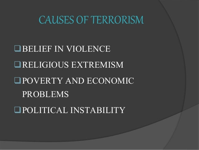powerpoint presentation on terrorism