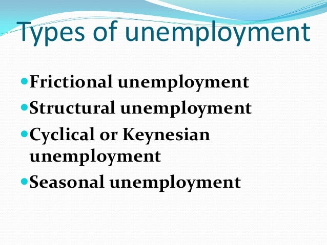 what is meant by unemployment and what are its different types essay Is the focus of the three essays presented here  for our understanding of  unemployment and the design of  2) agents become more selective in the type  of job they seek the latter  by wages, were not significantly different from zero ( card  chetty  ment benefits on jobless durations also tend to find smaller  effects of.