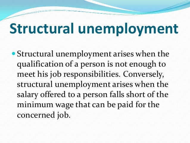 the reason of unemployment occur in