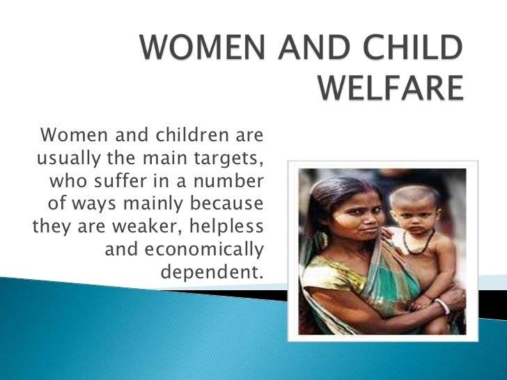 Ppt on women and child welfare Slide 2