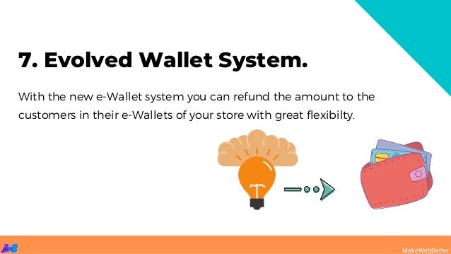 With the new e-Wallet system you can refund the amount to the customers in their e-Wallets of your store with great flexib...