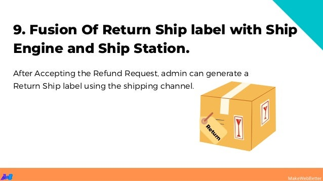 9. Fusion Of Return Ship label with Ship Engine and Ship Station. After Accepting the Refund Request, admin can generate a...