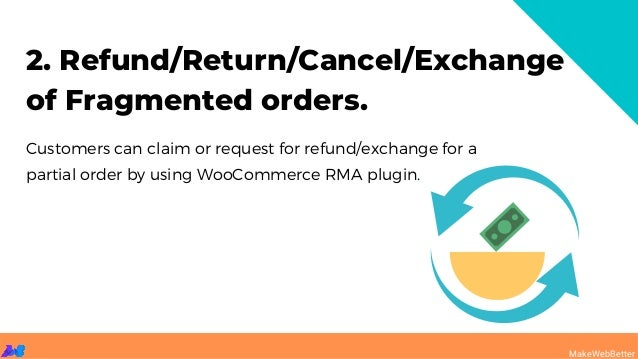 2. Refund/Return/Cancel/Exchange of Fragmented orders. Customers can claim or request for refund/exchange for a partial or...