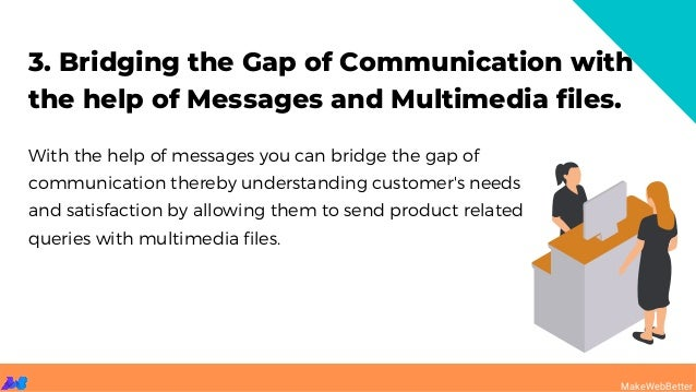 3. Bridging the Gap of Communication with the help of Messages and Multimedia files. With the help of messages you can bri...