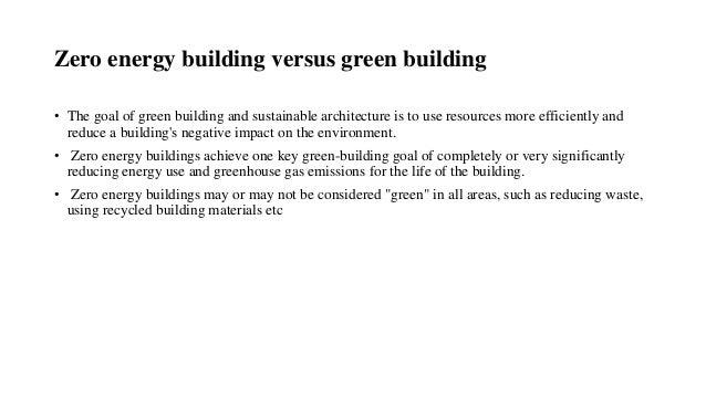 Ppt On Zero Energy Building