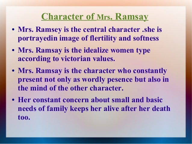 feminism in to the lighthouse character of mrs ramsay 8