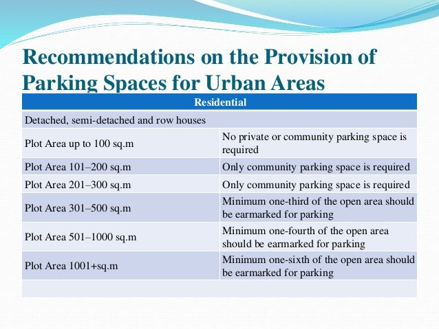 DIMENSIONS FOR STANDARD PARKING SPACES. vehicle parking