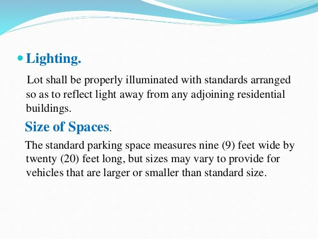 Vehicle parking for Car dimensions in feet india