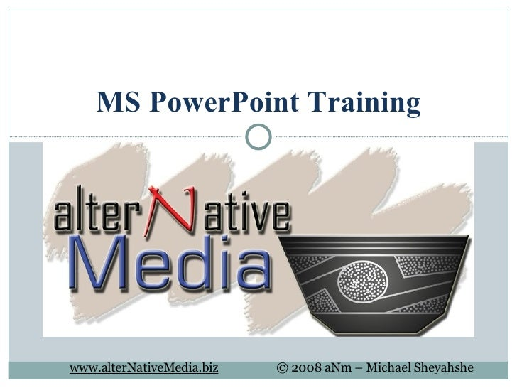 MS PowerPoint Training