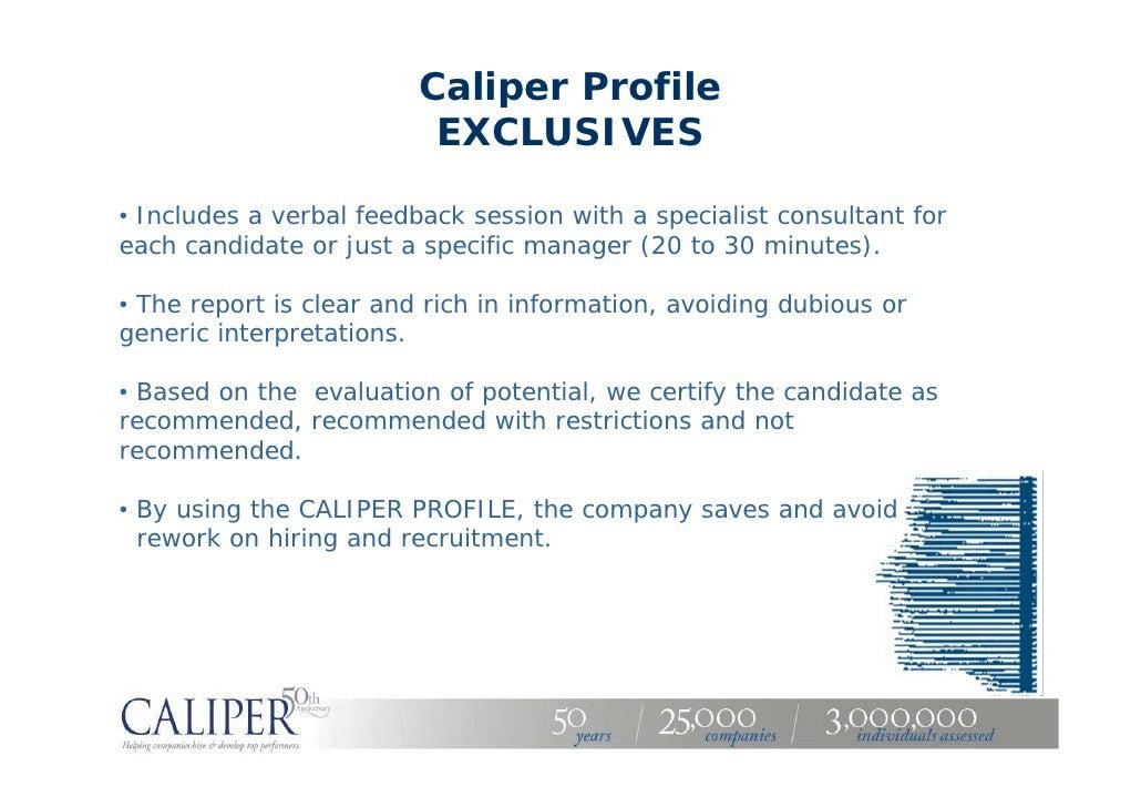 Caliper Profile