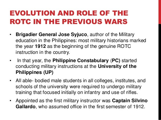 philippine rotc instructions President rodrigo duterte approved tuesday the mandatory rotc for  he said  the program of instruction (poi) will be designed by three.