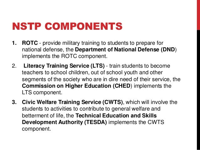 National Training Service Agreement