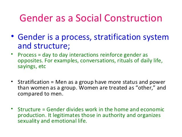 the concept of gender and sex in a social system Social stratification and gender social stratification and homosexuality social stratification and gender the criminal justice system theories of deviance.